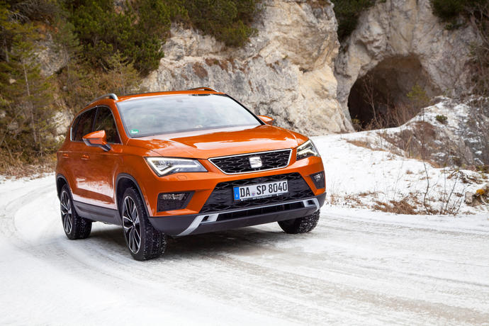 auto news seat ateca 2 0 tdi 4drive gesp r f r schnee. Black Bedroom Furniture Sets. Home Design Ideas