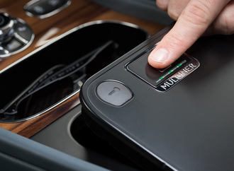Exklusives Bentley-Extra - Biometrie-Tresor in der Mittelkonsole